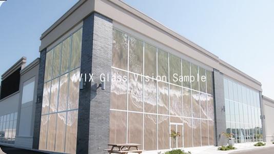 建物のガラス面に設置